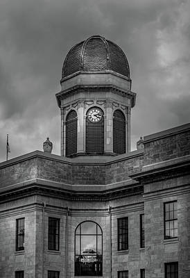 Cherokee County Photograph - Rainy Day At The Courthouse Black And White by Greg Mimbs