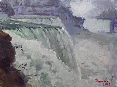 Rainy Painting - Rainy Day At The Falls by Ylli Haruni