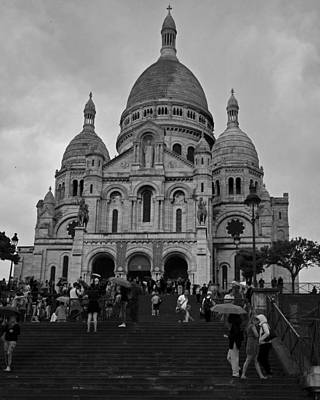 Photograph - Rainy Day At The Sacre Coeur In Paris, France by Toby McGuire