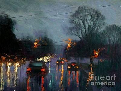 Painting - Rainy Day by Chin H Shin