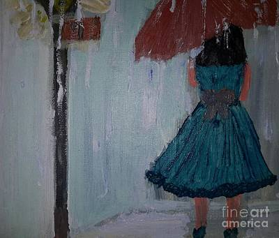 Rainy Day Art Print by Cindy  Riley