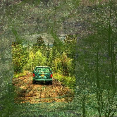 Digital Art - Rainy Day Commute by Nadine Berg