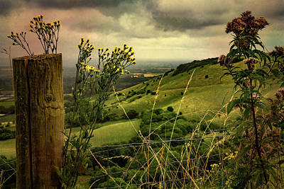 Photograph - Rainy Day Hilltop View On The South Downs by Chris Lord