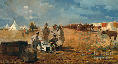 Painting - Rainy Day In Camp, 1871 by Winslow Homer