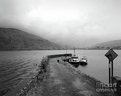 Photograph - rainy day in Connemara bw by Rudi Prott