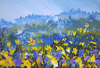 Painting - Rainy Day In Devon by Mike Jory