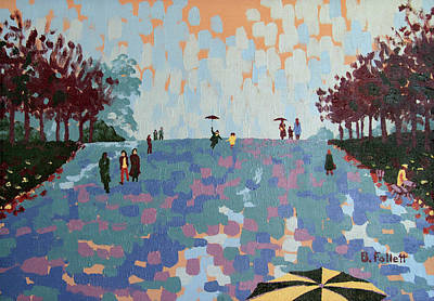 Painting - Rainy Day In London by Bonnie Follett