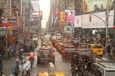 Photograph - Rainy Day In Manhattan by Emanuel Tanjala