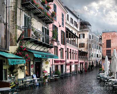 Rainy Day In Nemi. Italy Art Print