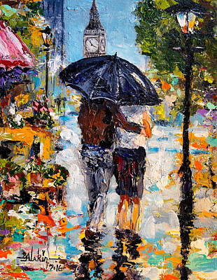 Painting - Rainy Day In Olde London Town by Alan Lakin