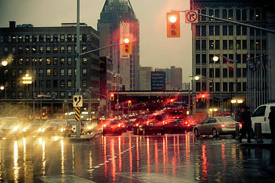 Rainy Day In Ottawa Art Print
