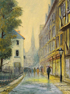 Moody Street Painting - Rainy Day In Oxford by Bill Holkham