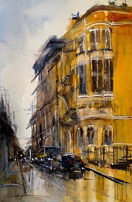 Painting - Rainy Day In Sofia by Sandra Strohschein