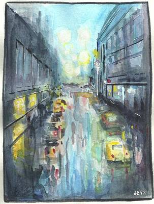 James Parker Painting - Rainy Day by James Parker