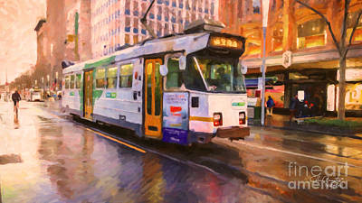 Rainy Day Melbourne Art Print