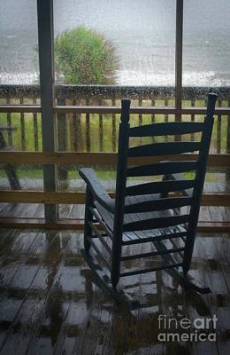 Rocking Chairs Photograph - Rainy Day Memories by Skip Willits