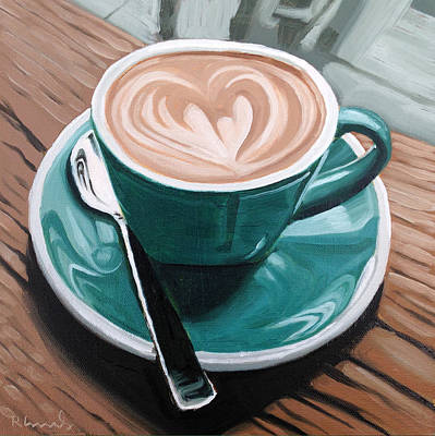 Coffee Painting - Rainy Day by Nathan Rhoads