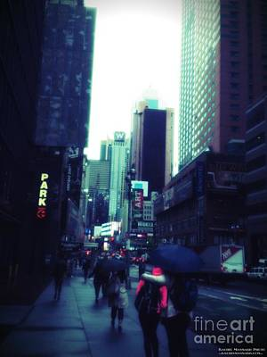 Photograph - Rainy Day New York City by Rachel Maynard