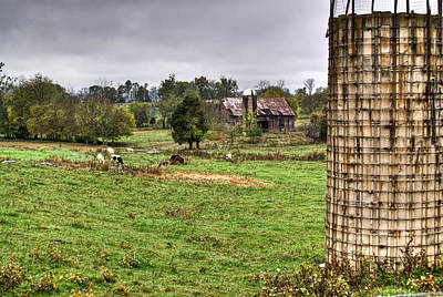 Grey Clouds Photograph - Rainy Day On The Farm by Douglas Barnett