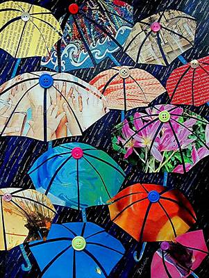 Rainy Day Personalities Art Print by Susan DeLain