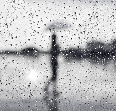 Abstract Reflection Photograph - Rainy Day by Setsiri Silapasuwanchai