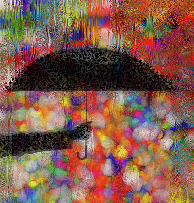 Abstract Poster Painting - Rainy Day Series by Jack Zulli