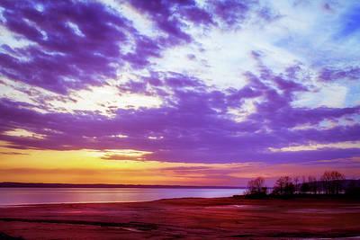 Photograph - Rainy Day Sunset by Barry Jones