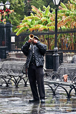 Photograph - Rainy Day Trumpeter by Kathleen K Parker