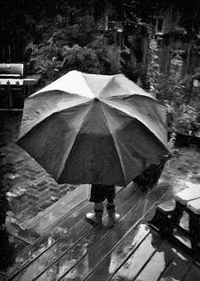 Rainy Day Art Print by Winnie Chrzanowski