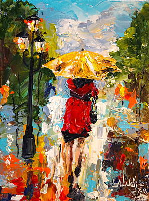 Painting - Rainy Days by Alan Lakin