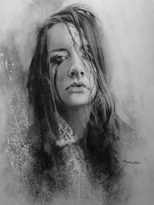 Tears Drawing - Rainy Days, Broken Promises by Paul Howe
