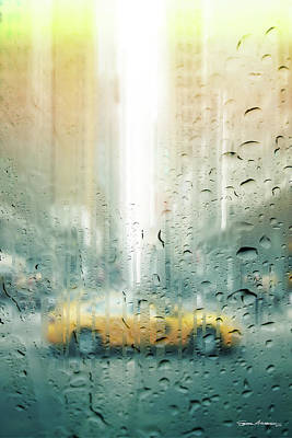 Digital Art - Rainy Days In New York - Corner Of The 6th by Serge Averbukh