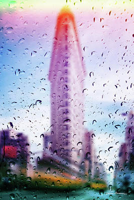Digital Art - Rainy Days In New York - The Flatiron  by Serge Averbukh