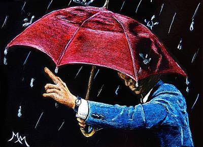 Drawing - Rainy Days - Sa111 by Monique Morin Matson