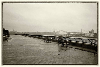 Photograph - Rainy Days Sepia by Dave Beckerman