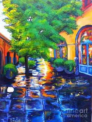 Painting - Rainy Dutch Alley by Beverly Boulet