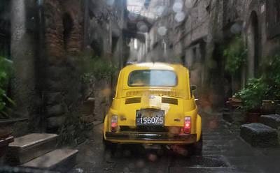 Photograph - Rainy Fiat Parade, Italy by Kathleen McGinley