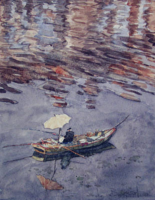 Painting - Rainy Fishing Day In Brittany by Lynn Gimby-Bougerol