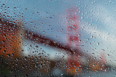 Rainy Day Photograph - Rainy Golden Gate by Steve Gadomski