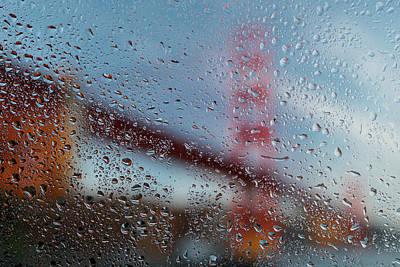 Rainy Golden Gate Art Print by Steve Gadomski
