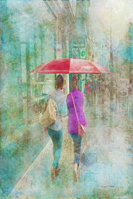 Digital Art - Rainy In Paris 1 by Ramona Murdock