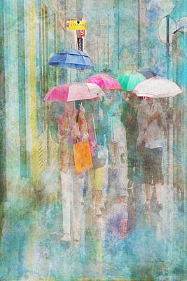 Digital Art - Rainy In Paris 2 by Ramona Murdock