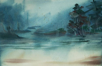 Painting - Rainy Inlet by Jani Freimann