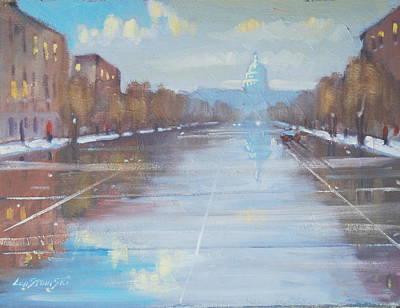 Washington D.c Painting - Rainy January Day In Dc by Len Stomski
