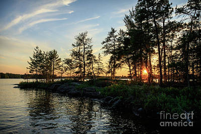 Photograph - Rainy Lake Sunset by Lori Dobbs