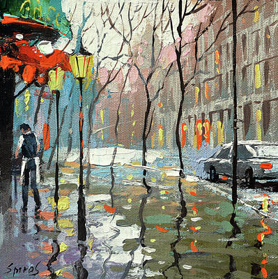 Painting - Rainy Landscape by Dmitry Spiros