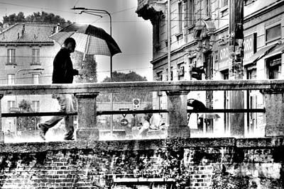 Photograph - Rainy Milano by Valentino Visentini