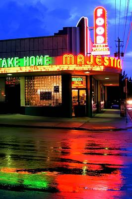 Corky Willis And Associates Atlanta Photograph - Rainy Night At The Majestic Grill by Corky Willis Atlanta Photography