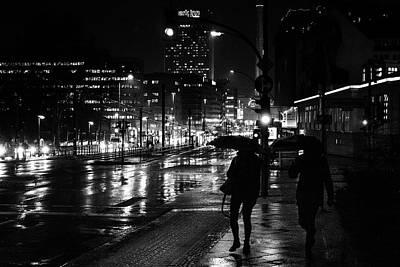 Prenzlauer Berg Photograph - Rainy Night Berlin - Street Photography by Frank Andree