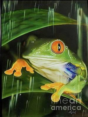 Rainy Night Frog Original by Rebel Dowdle